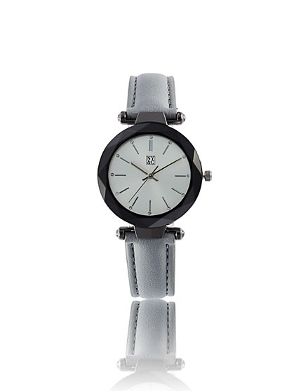 Sparkling Faceted Silvertone Watch - New York & Company