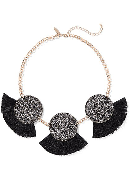 Sparkling Fan Statement Necklace - New York & Company