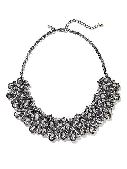 Sparkling Faux-Stone Bib Statement Necklace - New York & Company