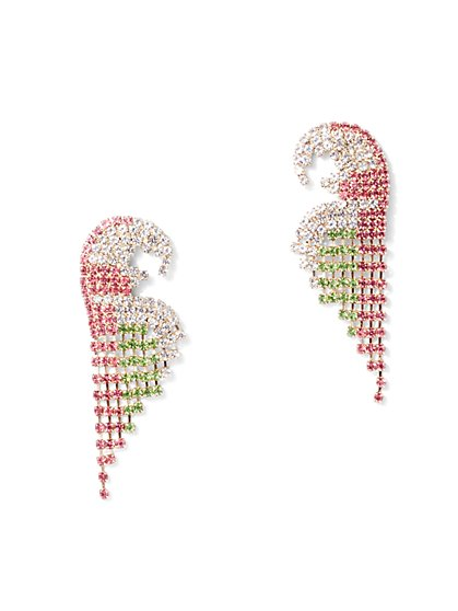 Sparkling Flamingo Post Earring - New York & Company