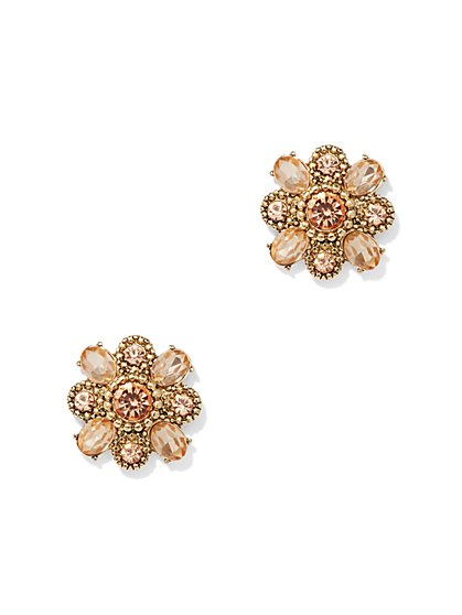 Sparkling Floral Cluster Post Earring - New York & Company