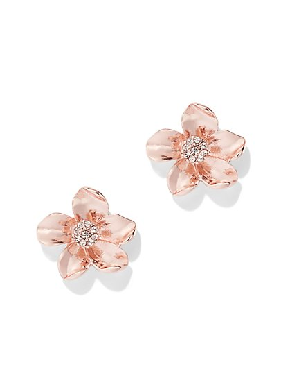 Sparkling Floral Post Earring - New York & Company
