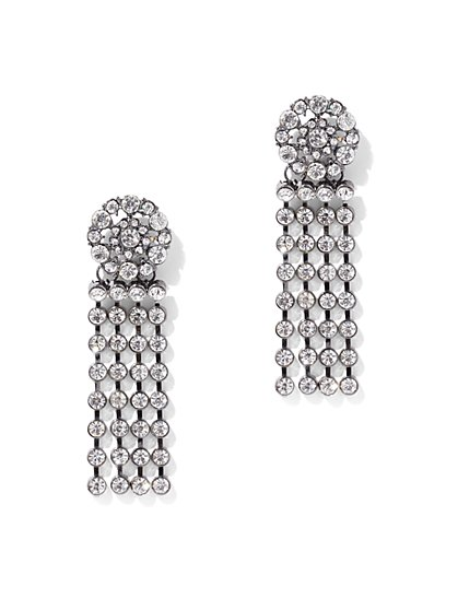 Sparkling Fringe Drop Earring - New York & Company