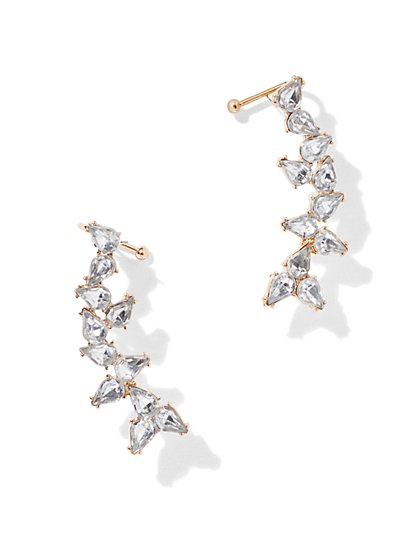 Sparkling Goldtone Ear Climber - New York & Company