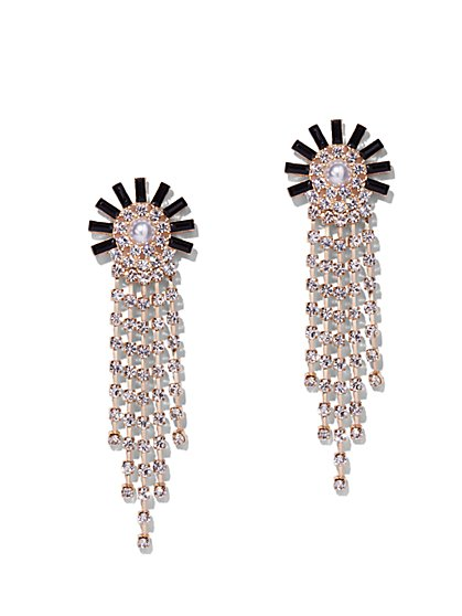 Sparkling Goldtone Statement Drop Earring - New York & Company