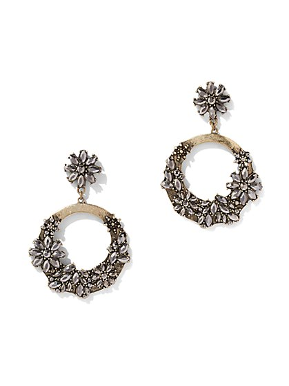 Sparkling Hoop Drop Earring - New York & Company