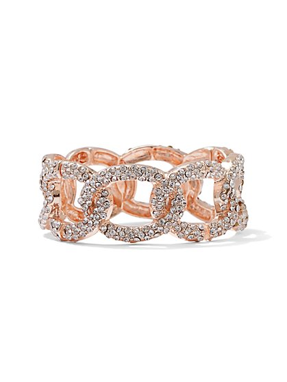 Sparkling Link Stretch Bracelet - New York & Company