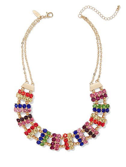 Sparkling Multicolor Statement Necklace - New York & Company