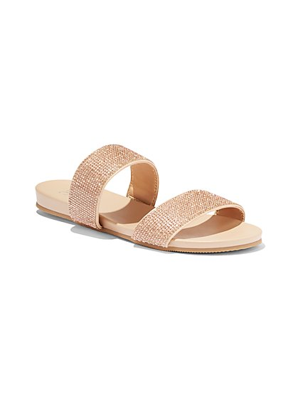 Sparkling Pool Slide Sandal - New York & Company