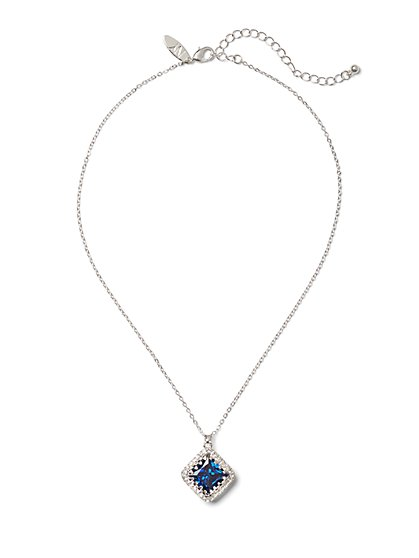 Sparkling Silvertone Pendant Necklace - New York & Company