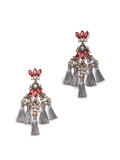 Sparkling Tassel Drop Earring - New York & Company