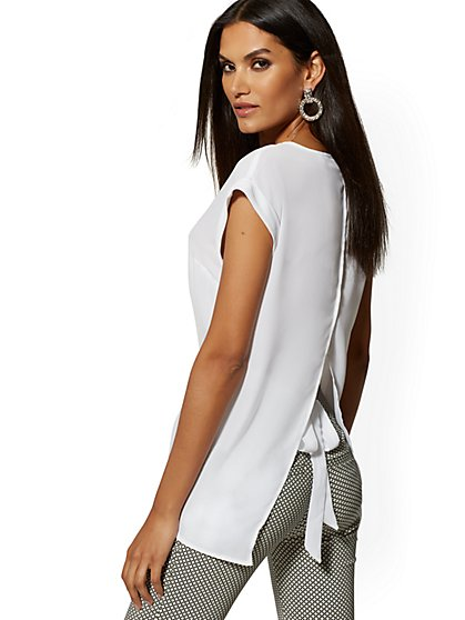 Split-Back Blouse - 7th Avenue - New York & Company