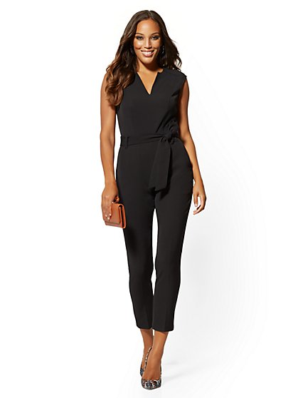Split-Neck Madie Jumpsuit - 7th Avenue - New York & Company