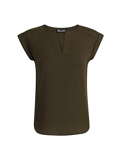 Split-Neck Top - 7th Avenue - New York & Company