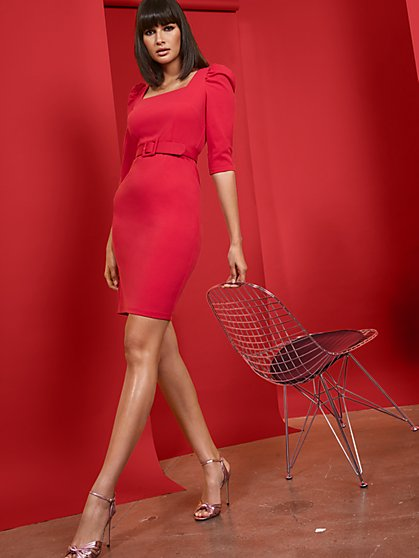 Square-Neck Sheath Dress - Magic Crepe® - New York & Company