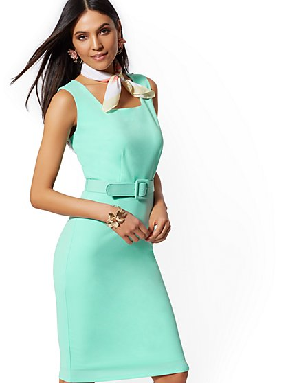 Square-Neck Sheath Dress - Magic Crepe - New York & Company