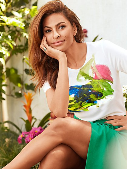 St.Jude Graffiti Graphic-Print Tee - Eva Mendes Collection - New York & Company