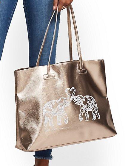 St Jude Metallic Give Love Tote Bag New York Company