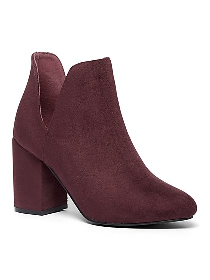 Stacked-Heel Bootie - New York & Company