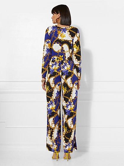 97309a0426f ... Status-Print Twist-Front Jumpsuit - New York   Company
