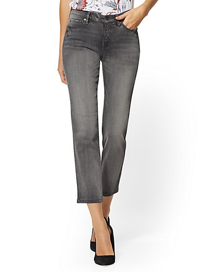 Straight-Leg Jeans - Grey - New York & Company