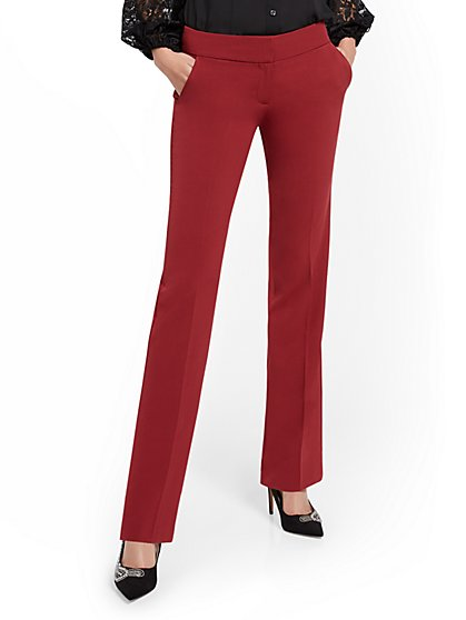 Straight-Leg Pant - Double Stretch - 7th Avenue - New York & Company