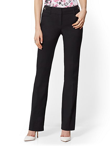 Straight Leg Pant - Mid Rise - All-Season Stretch - 7th Avenue - New York & Company