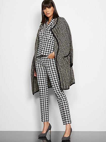 Straight-Leg Pant - Modern - Houndstooth - 7th Avenue - New York & Company