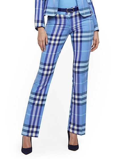 Straight-Leg Pant - Modern - Plaid - 7th Avenue - New York & Company
