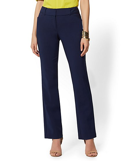 58bc1d1c90a Straight Leg Pant - Signature Fit - All-Season Stretch - 7th Avenue - New  ...