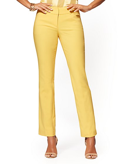 Straight Leg Pant - Signature Fit - All-Season Stretch - 7th Avenue - New York & Company