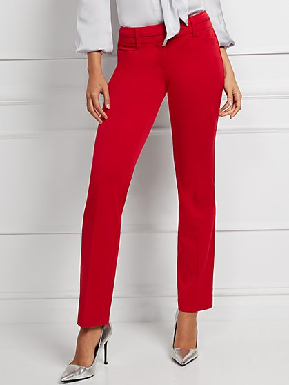 Straight-Leg Pant - Signature Fit - Superstretch - 7th Avenue - New York & Company