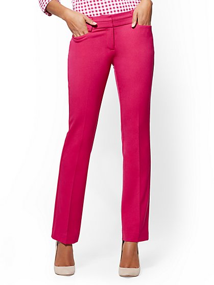 Straight Leg Pant - Signature Fit - Superstretch - 7th Avenue - New York & Company