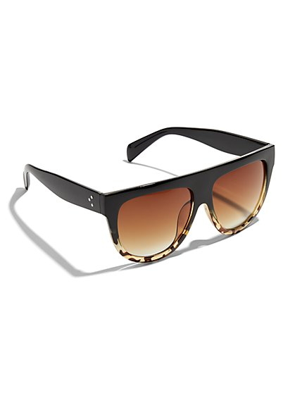 Straight-Top Rectangular Sunglasses - New York & Company