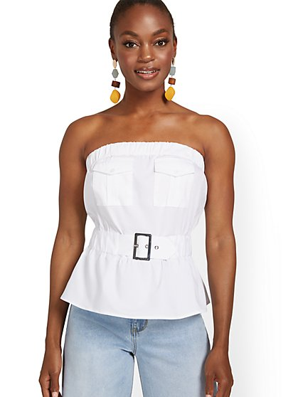 Strapless Cargo Top - New York & Company