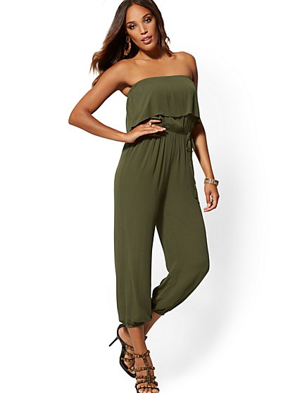 f12502befbf Strapless Jogger Jumpsuit - New York & Company ...