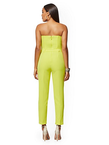 1f15f6b0 ... Strapless Madie Jumpsuit - Citrus Yellow - 7th Avenue - New York &  Company ...