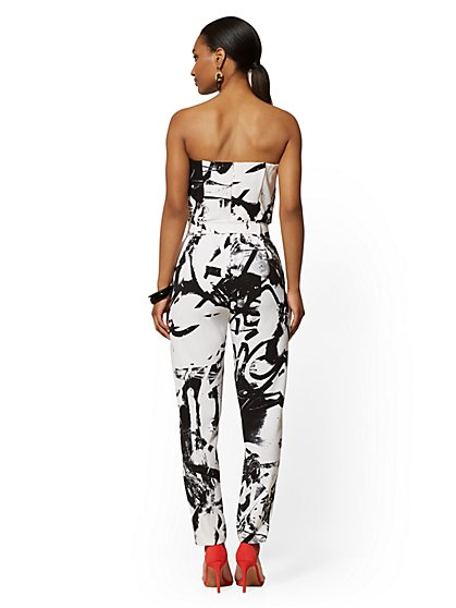 639ed240c ... Strapless Madie Jumpsuit - Graffiti Print - 7th Avenue - New York &  Company