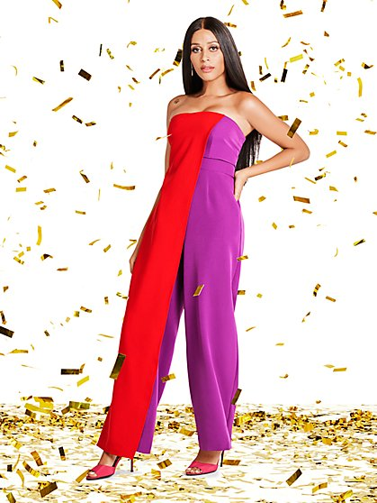 Strapless Overlay Jumpsuit - Gabrielle Union Collection - New York & Company