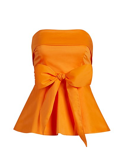Strapless Peplum Top - New York & Company