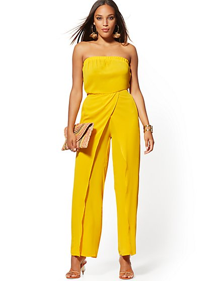 786d1642 Strapless Wrap Jumpsuit - New York & Company ...