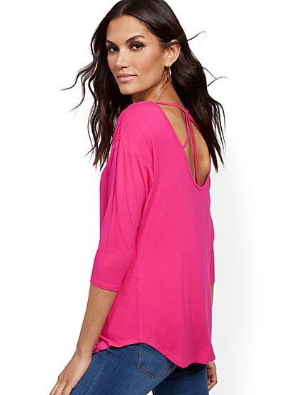 Strappy-Back Tunic Top - New York & Company