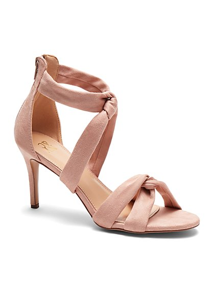 Strappy Knot Heel Sandal - New York & Company