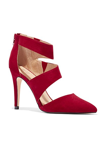 Strappy Pointed-Toe Pump - New York & Company