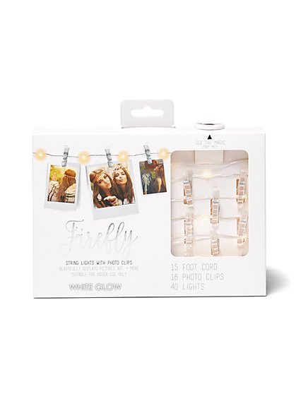 String Lights with Clear Photo Clips - New York & Company