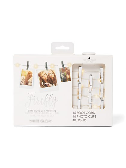 String Lights with Silver Photo Clips - New York & Company