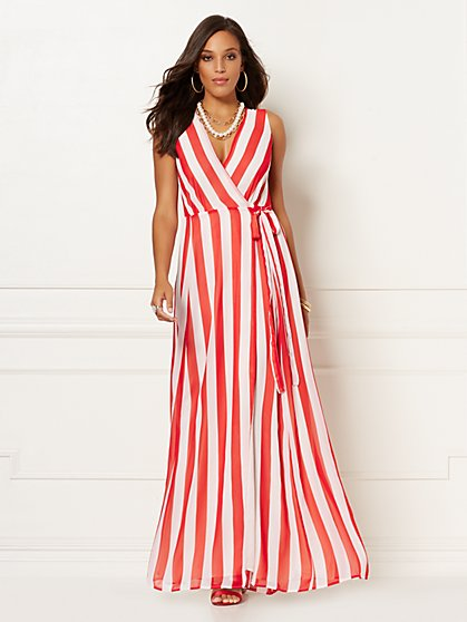Stripe Allison Maxi Dress - Eva Mendes Collection - New York & Company