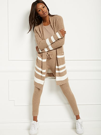 Stripe Boucle Cardigan - New York & Company