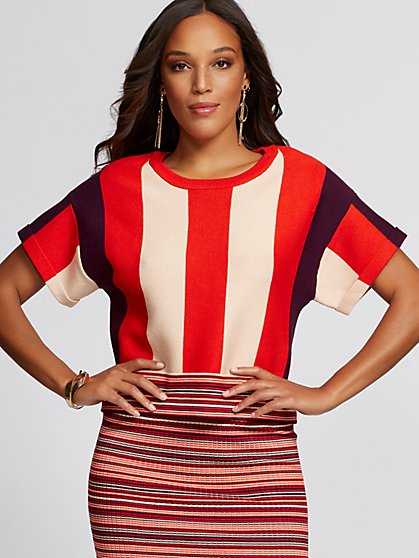 Stripe Colorblock Sweater - Gabrielle Union Collection - New York & Company