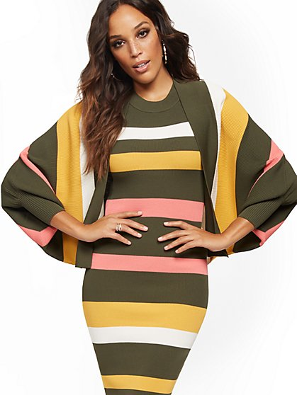 Stripe Dolman Cardigan - New York & Company